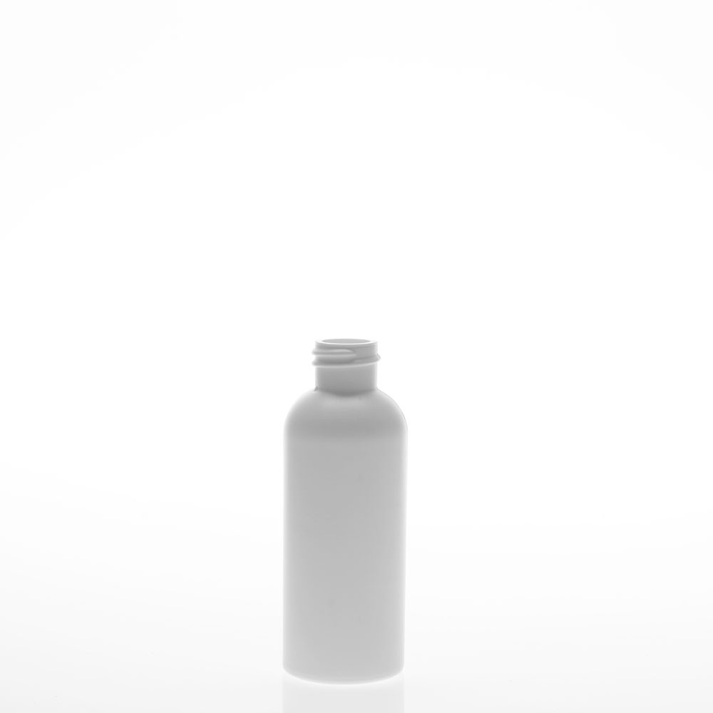 2 Ounce Diamond Round White Plastic Bottle
