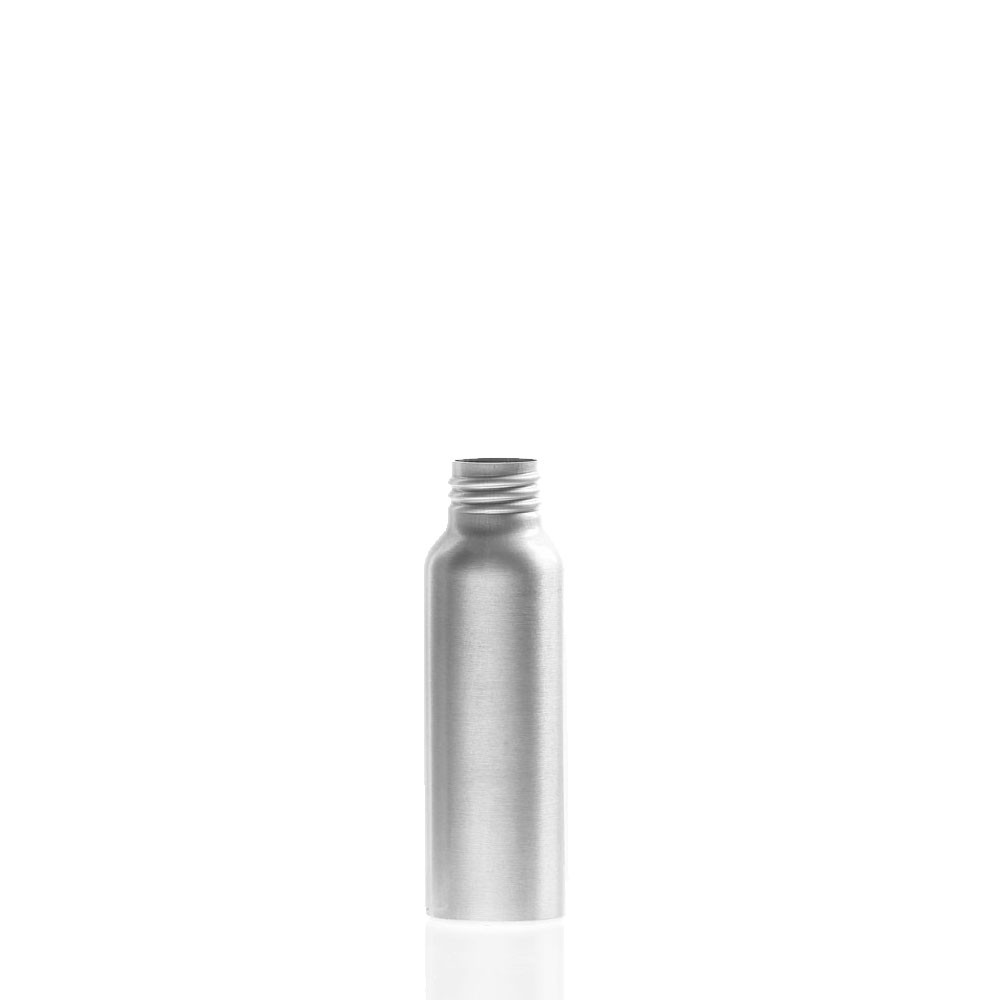 2 Ounce Bullet (Cosmo) Brushed Aluminum Bottle