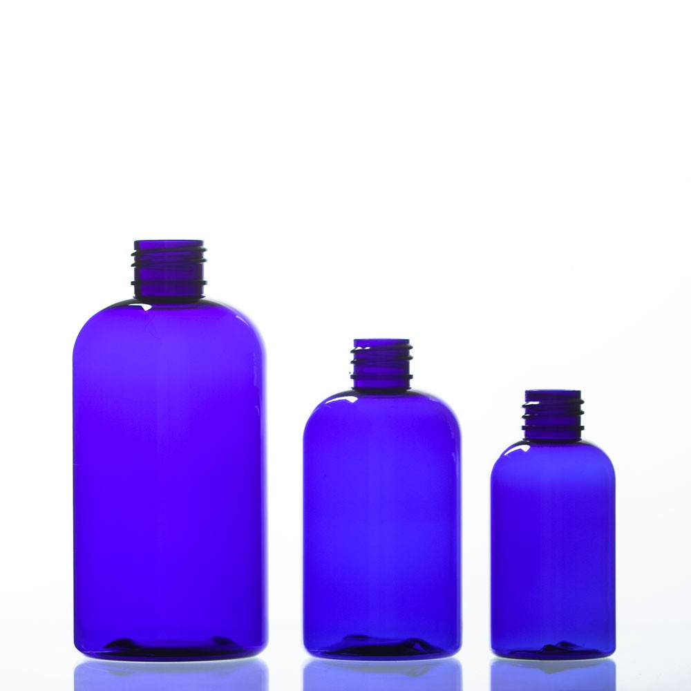 Boston Cobalt Blue Plastic Bottles
