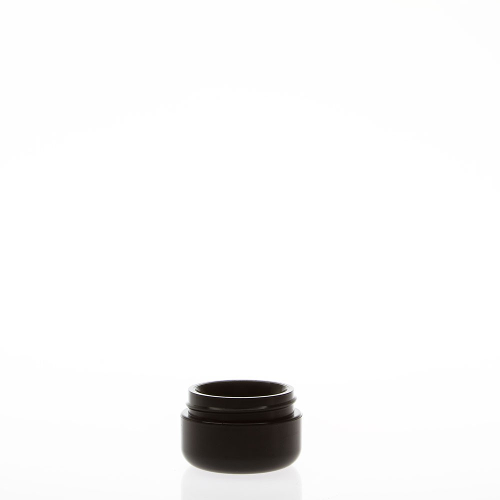 Dome Double Wall Black Plastic Jars