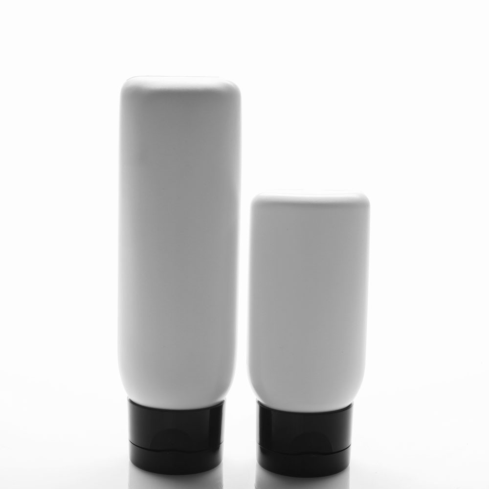 Malibu White Plastic Bottles with Flip Top Cap