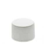 20/410 White Ribbed Non Dispensing Screw Top Cap - Induction Seal Liner - +$0.05