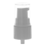 20/410 White Smooth Treatment Pump Top - Clear Cap - +$0.30
