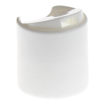 24/410 White Smooth Disc Top Cap - Self-Sealing Liner - +$0.06