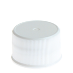 24/410 White Ribbed Non Dispensing Screw Cap - Foam Liner - +$0.05