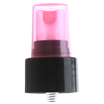 24/410 Black/Hot Pink Smooth Sprayer Top - Clear Hot Pink Cap - +$0.30