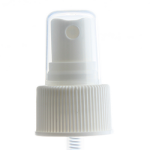 24/410 White Ribbed Sprayer Top - Clear Cap - +$0.30