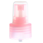 24/410 Light Pink Ribbed Sprayer Top - Clear Cap (Surplus) - +$0.30